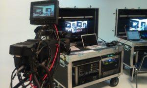 Live Webcasting Rack and Camera