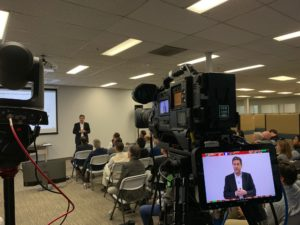 Ansys-townhall-webcasting from the back of the room