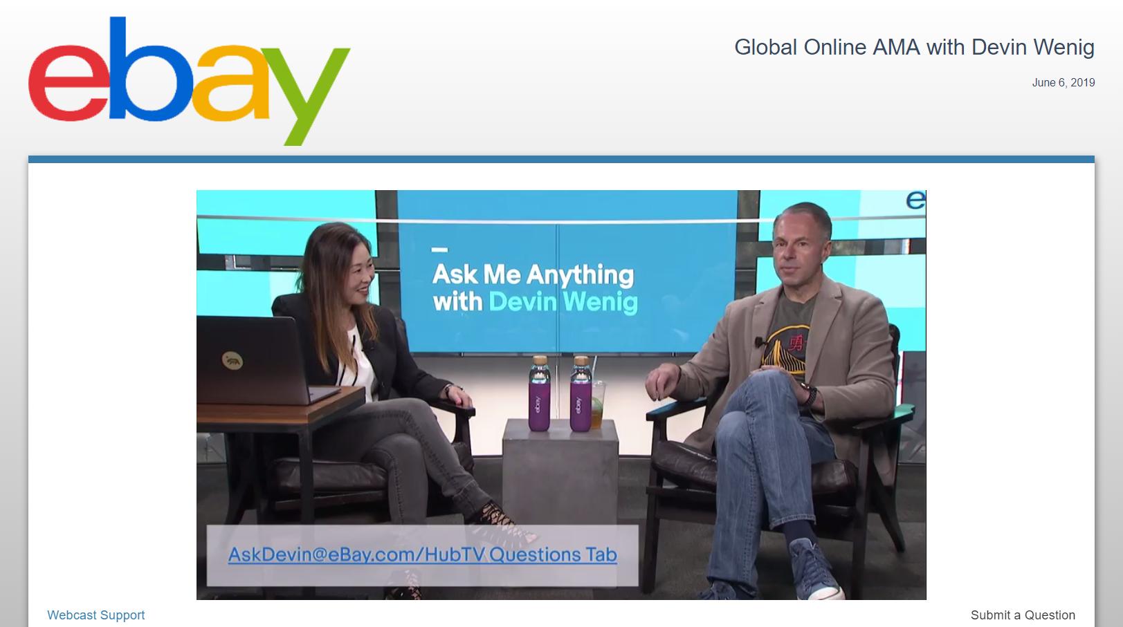 San Jose, CA.  Live webcasting for eBay in San Jose