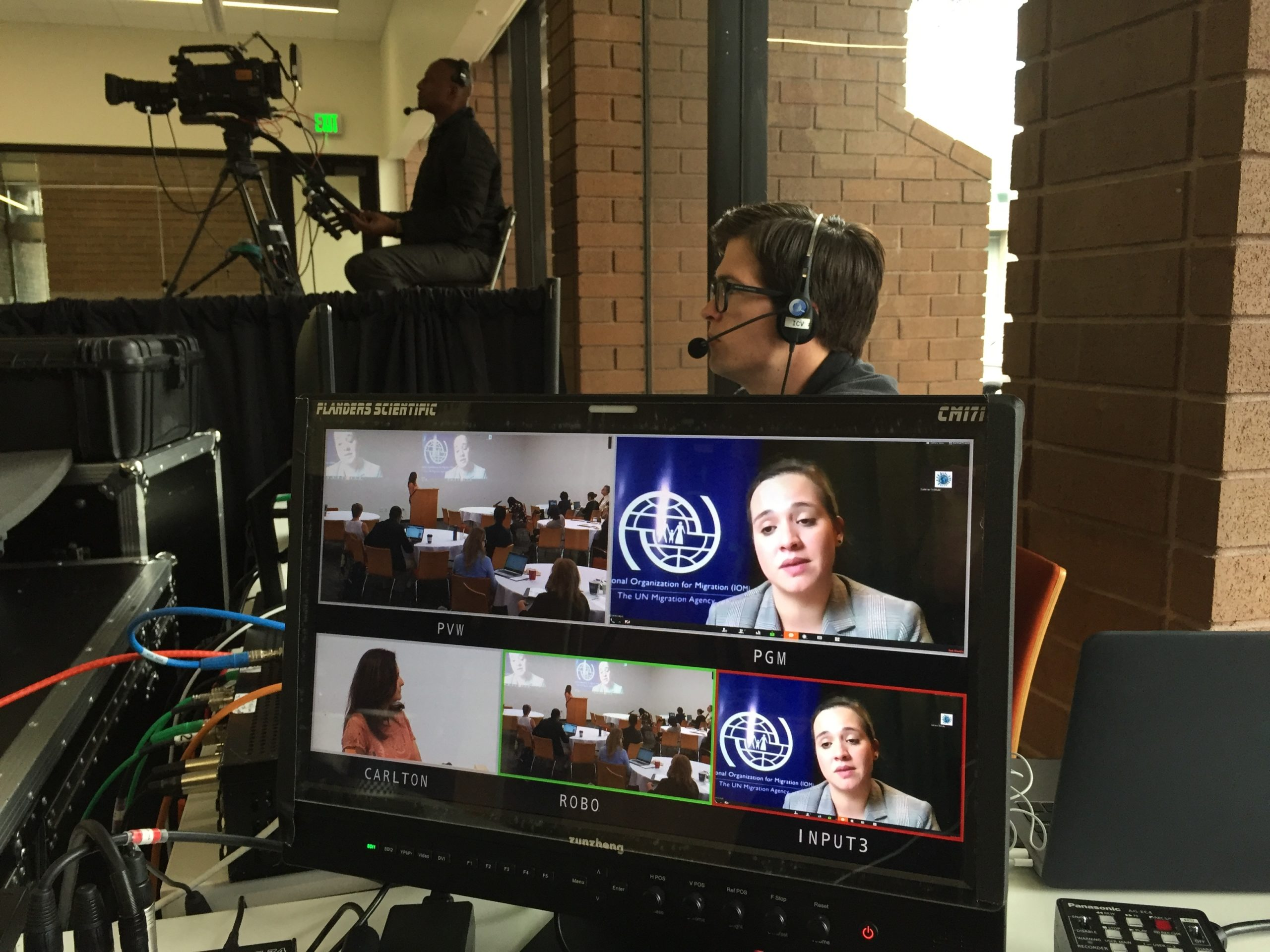 Berkeley, CA.  ICV Digital Media live streaming for Global Health and Immigration