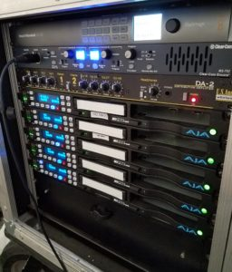 Video production live webcasting equipment rack with multiple Digital Video Recorders Ki-Pros
