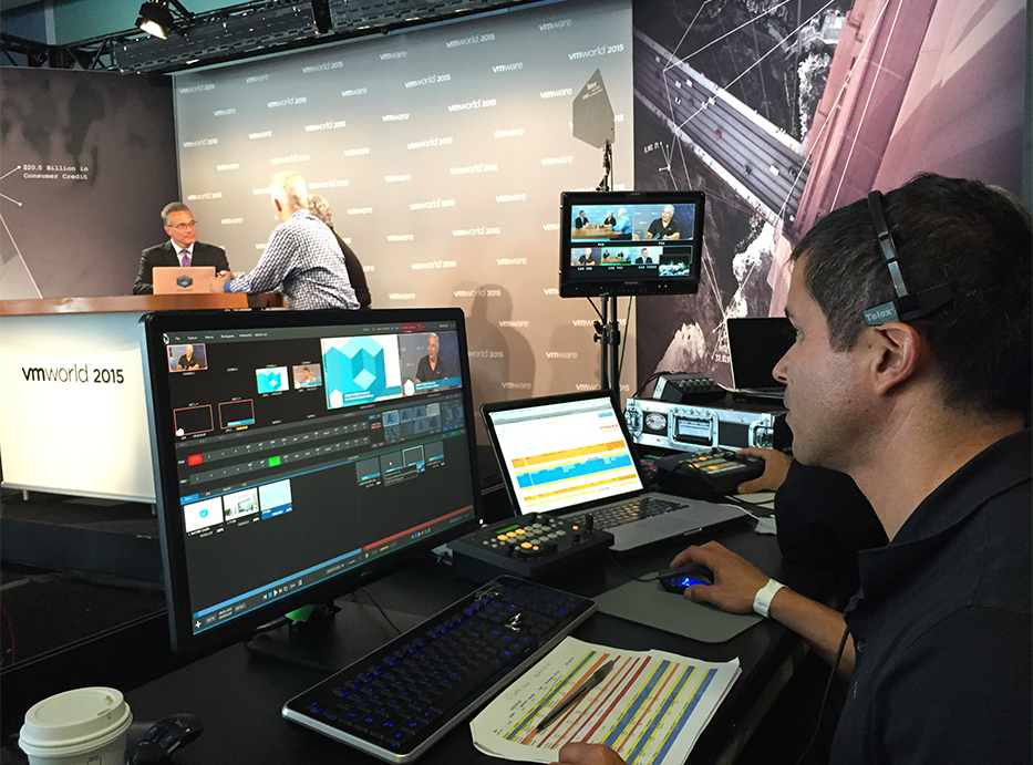 Webcasting at Vmworld
